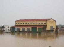 Nhiều khu vực đang bị cô lập do nước sông vẫn dâng cao, học sinh chưa thể đến trường