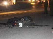 Xe tải tông xe máy, 2 người thương vong