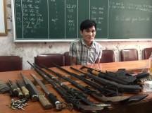 Lán ma tuý trang bị mìn tự chế và súng để… phòng thân