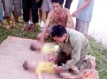 2 anh em họ chết đuối, bố mẹ khóc ngất xỉu