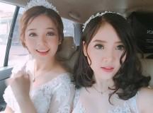 Cô dâu đã xinh, phù dâu còn xinh hơn, đây là 2 cô gái xứ Nghệ hot nhất Facebook hôm nay