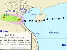 Hoàn lưu bão số 3 sẽ gây mưa to đến hết ngày 21-7